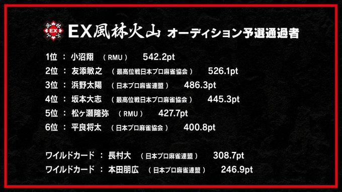 【EX風林火山】 ドラフト指名オーディション 準決勝進出者の発表/ファン投票を7/6(火)~7/11(日)24:00まで受け付け