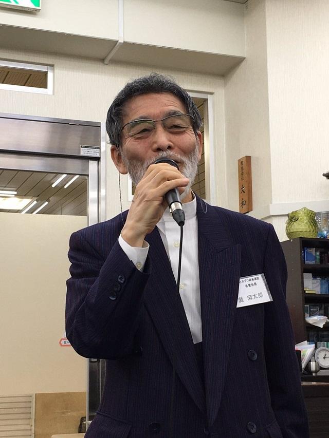 日本プロ麻雀連盟 灘麻太郎名誉会長 (日本プロ麻雀連盟 関西本部  Twitter @jpmlkansaihonbu より)