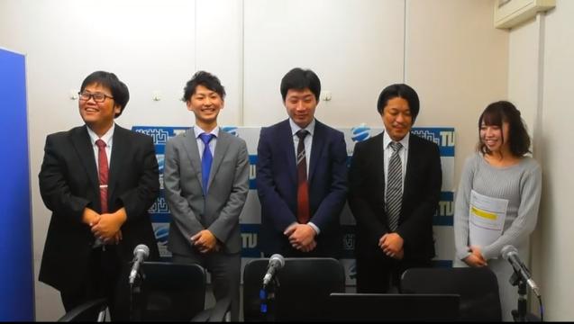 最高位戦関西本部チーム 左から松島プロ、中屋敷プロ、中村プロ、飯沼プロ