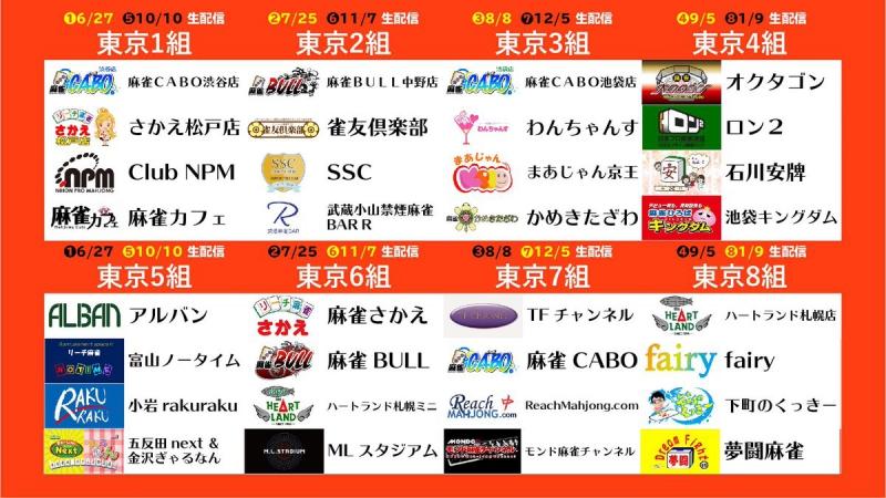 [夕刊フジ杯争奪麻雀女流リーグ2020] 《東日本》 組み合わせ決定! 開幕戦は6月27日!