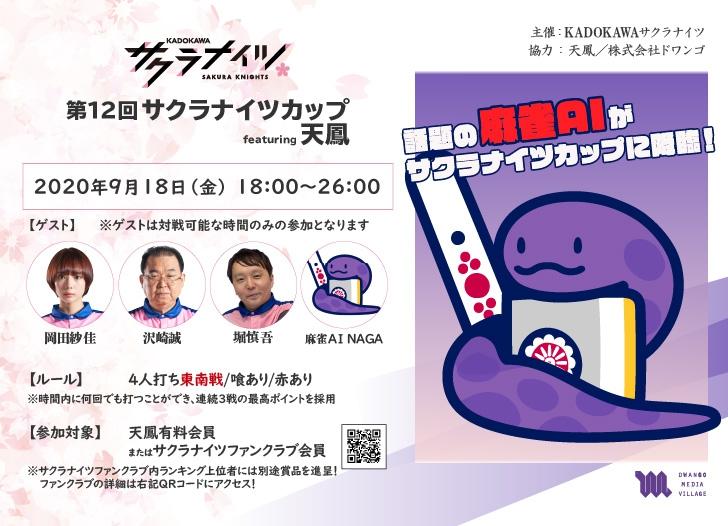 【(C)Mリーグ】/(C)KADOKAWAサクラナイツ/(C)オンライン対戦麻雀ゲーム天鳳