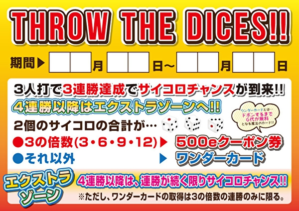 「THROW THE DICES」